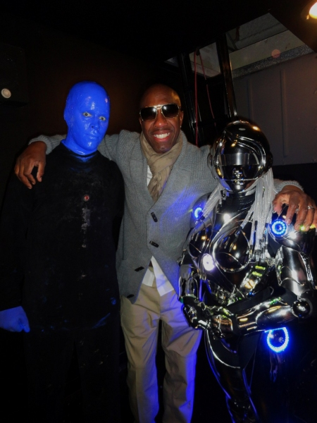Photo Flash: Corey Taylor, Kurt Warner and J.B. Smoove Attend BLUE MAN GROUP in Las Vegas