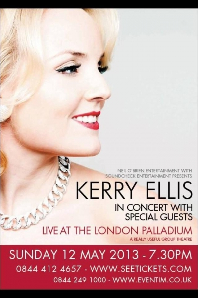 Photo Flash: West End and Broadway Star Kerry Ellis Reveals London Palladium Poster
