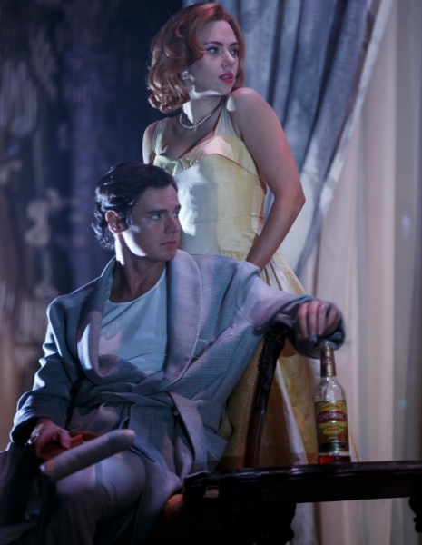 FREEZE FRAME: First Look at Scarlett Johansson and Benjamin Walker in CAT ON A HOT TIN ROOF!