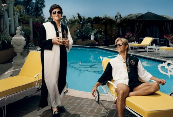 Michael Douglas, Matt Damon at Michael Douglas & Matt Damon in HBO's BEHIND THE CANDELABRA