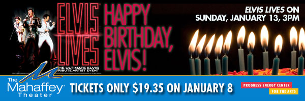 Mahaffey Theater to Celebrate King of Rock n' Roll with Discounted Tickets to ELVIS LIVES, 1/13