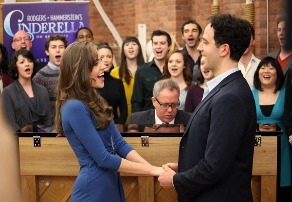 Laura Osnes & Santino Fontana & Ensemble at Cast of CINDERELLA Meets the Press- Laura Osnes, Santino Fontana, Victoria Clark & More!
