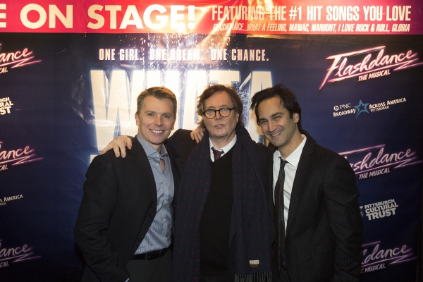 Robert Cary(book writer & lyricist), Tom Hedley (book writer) & Robbie Roth (composer &lyricst) of FLASHDANCE -THE MUSICAL