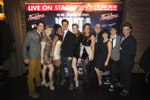 Castmembers of FLASHDANCE - THE MUSICAL including Brandt Martinez, Kelly Felthous,DeQuina Moore, Matthew Hydzik, Emily Padgett, Rachelle Rak, Matthew Henerson, Natalie Caruncho, Ryan Carlson and David R Gordon.