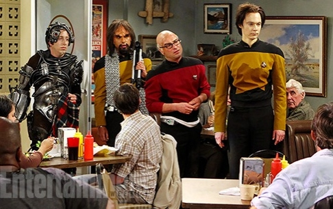Photo Flash: First Look -CBS's BIG BANG THEORY Goes 'Star Trek: TNG'!
