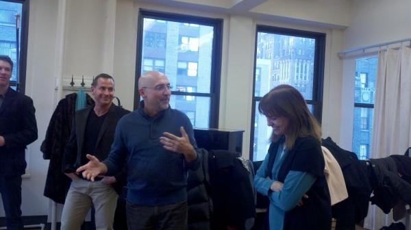 Matthew Lombardo, Rob Ruggiero and Valerie Harper