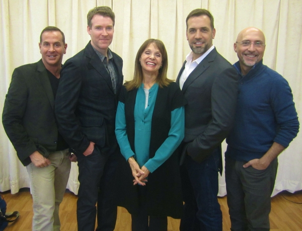 Valerie Harper surrounded by Brian Hutchison, Playwright Matthew Lombardo, Director Rob Ruggiero and Matthew Montelongo