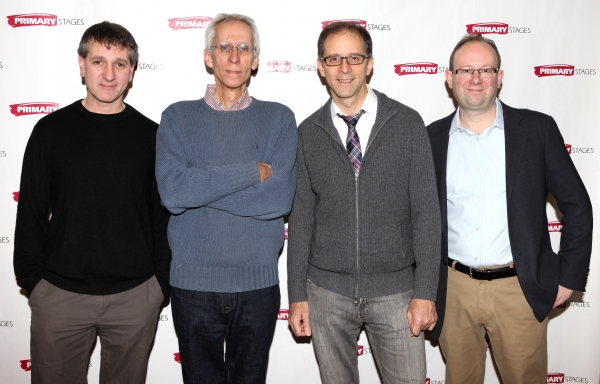 Elliot Fox, David Ives, John Rando and Andrew Leynse at Meet the Cast of ALL IN THE TIMING