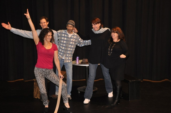 Lisa Weiss, David Cowan, Sam Weiss, Kristine Tibbs, Debbie MacLeod; Photo: Arthur Mortell