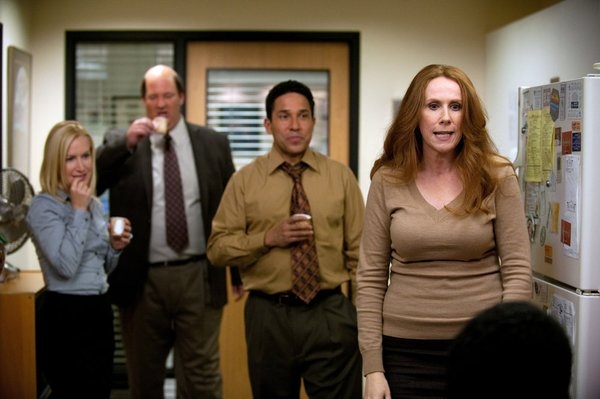 Angela Kinsey, Brian Baumgartner , Oscar Nunez, Catherine Tate  at THE OFFICE's 'Suit Warehouse' Episode