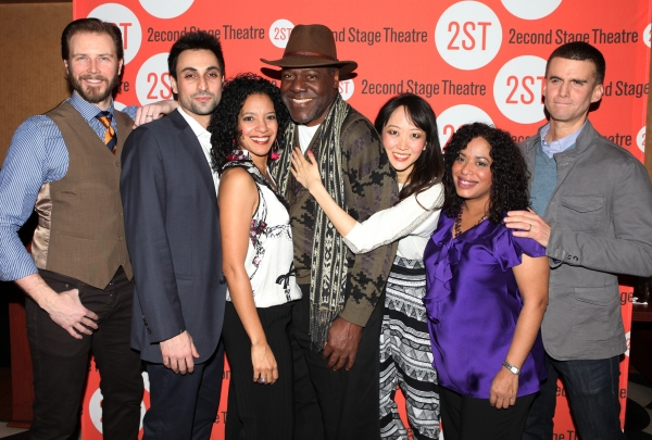 (L-R) Actors Bill Heck, Ryan Shams, Zabryna Guevara, Frankie R. Faison, Sue Jean Kim, Liza Colon-Zayas and Armando Riesco