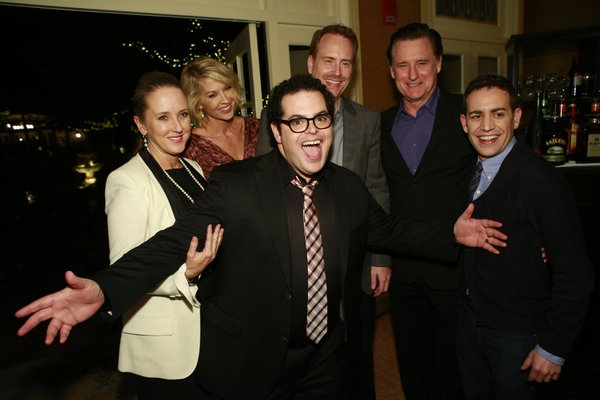 High Res Jenna Elfman, Josh Gad, Robert Greenblatt, Chairman, NBC Entertainment, Bill Pullman, Jason Winer