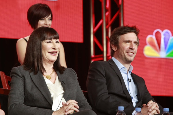 'Smash' -- Anjelica Huston, Jack Davenport  at SMASH Stars & More Attend NBCUniversal's Press Tour