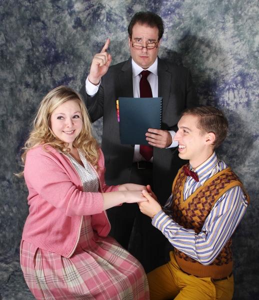Amanda Weis (Mary Lane), Garrick Dietze (Lecturer), Kurt Bender (Jimmy) Photo