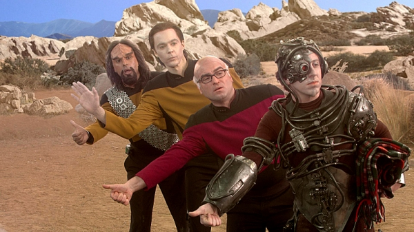 Kunal Nayyar, Jim Parsons, Johnny Galecki, Simon Helberg at THE BIG BANG THEORY Gets Trekkie on Tomorrow's All-New Episode