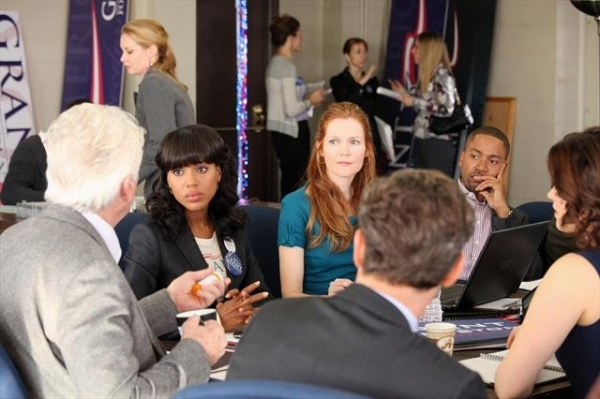 BARRY BOSTWICK, KERRY WASHINGTON, DARBY STANCHFIELD, TONY GOLDWYN, COLUMBUS SHORT at Scandal's 'A Criminal, a Whore, an Idiot and a Liar,' Airs 1/17
