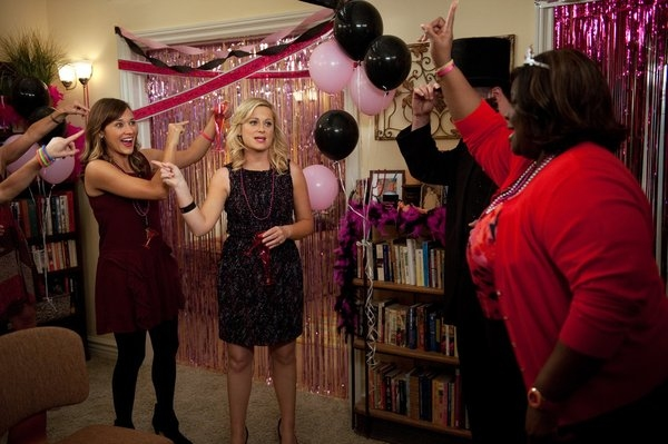 Rashida Jones, Amy Poehler at PARKS AND RECREATION's 'Two Parties,' Feat. Newt Gingrich