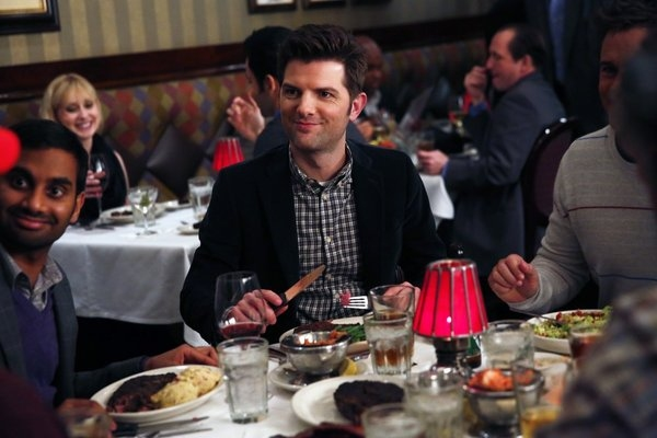 Adam Scott at PARKS AND RECREATION's 'Two Parties,' Feat. Newt Gingrich