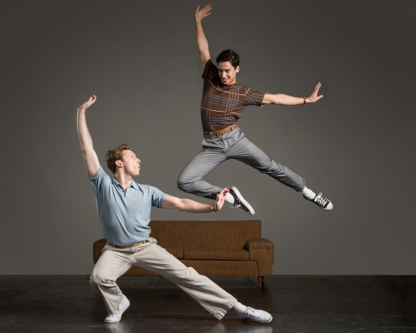 Childhood friends Jamie (Leo Ash Evens) and  Alejandro (Michael Rosen) have a dance-o Photo