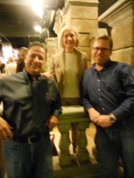 Vic Romita, Susan Flanagan, and Managing Director Ian Tresselt Photo