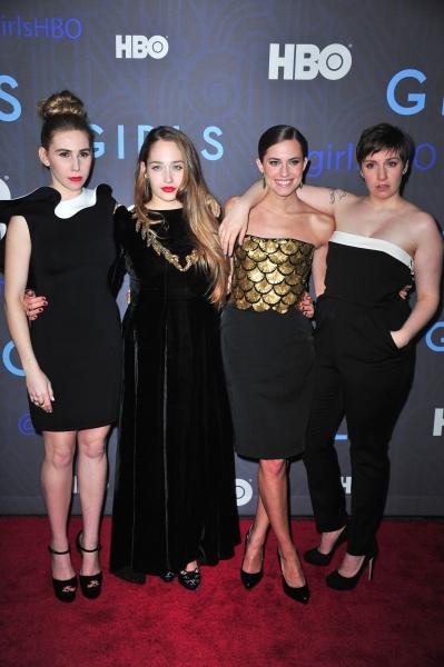 Zosia Mamet, Lena Dunham, Jemima Kirke, Allison Williams at 'Girls' Season 2 premiere, New York (Photo by Everett Collection / Rex USA)