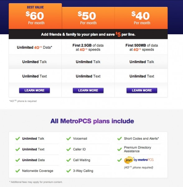 MetroPCS Unveils New Simpler Plans...