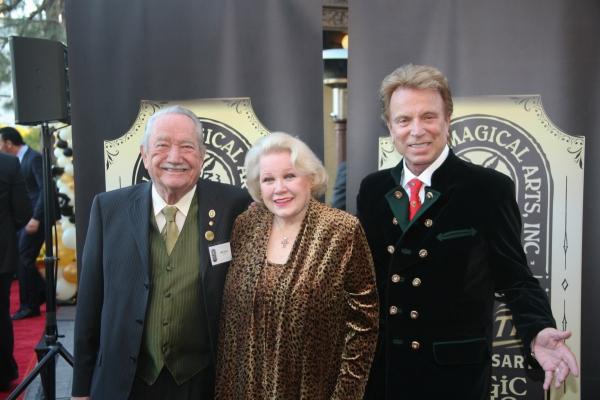Milt Larsen, Irene Larsen and Siegfried Fischbacher