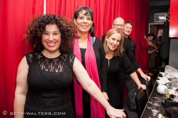 Marcy Cheisler, Christine Pedi, Zina Goldrich, Scott Coulter, Mike and Jill Abramovitz at MARCY & ZINA SHOW at Broadway at Birdland