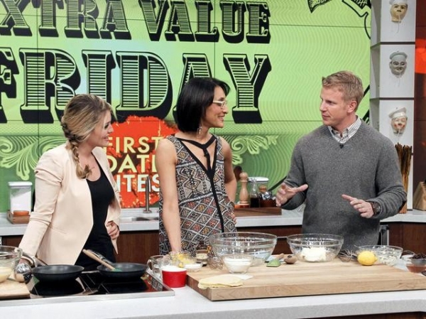 DAPHNE OZ, CARLA HALL, SEAN LOWE  at First Look - THE BACHELOR's Sean Lowe on THE CHEW, 1/11