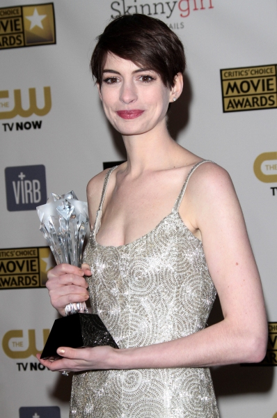 Anne Hathaway at Hathaway, Chastain & More at 18th Annual CRITICS CHOICE AWARDS