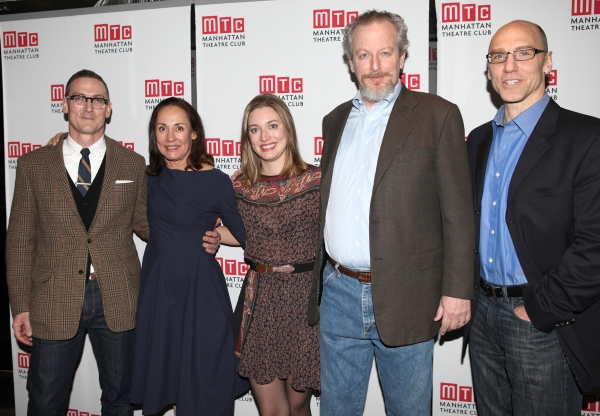 Playwright Sharr White with Laurie Metcalf, Zoe Perry, Daniel Stern & John Schiappa