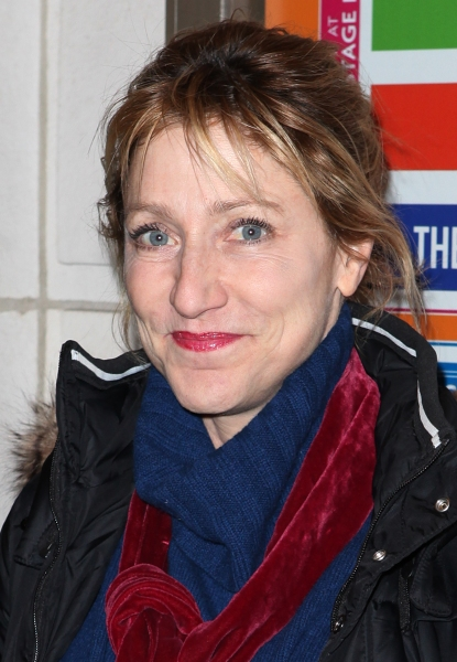 Edie Falco  at THE OTHER PLACE Opening Night Theatre Arrivals!