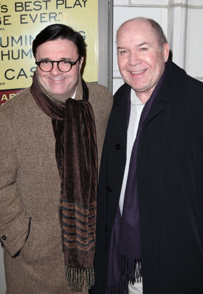 Nathan Lane & Jack O'Brien  at THE OTHER PLACE Opening Night Theatre Arrivals!