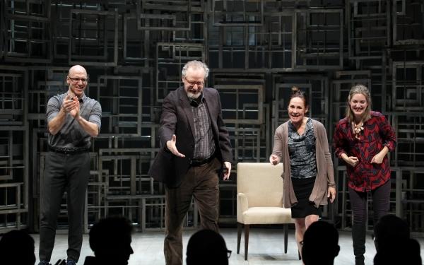 John Schiappa, Daniel Stern, Laurie Metcalf & Zoe Perry calling Playwright Sharr Whit Photo