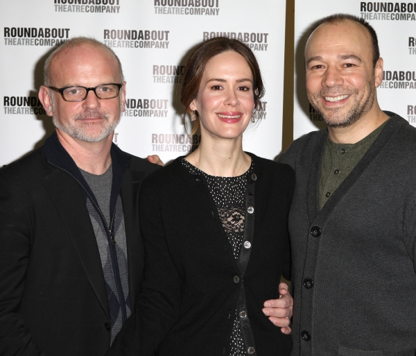 Director Michael Wilson, Sarah Paulson & Danny Burstein at TALLEY'S FOLLY Cast Meets the Press