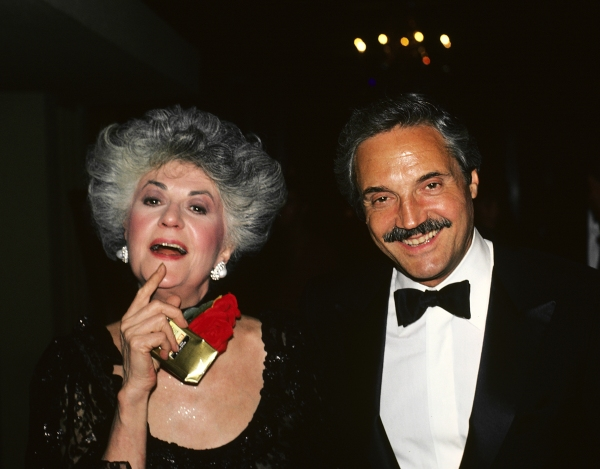 Bea Arthur and Hal Linden attending a benefit party in New York City in 1981.   Photo