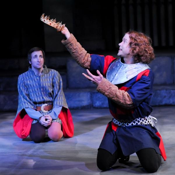 Paul Riopelle as Sir Stephen Scroop and Brent Vimtrup as King Richard II
