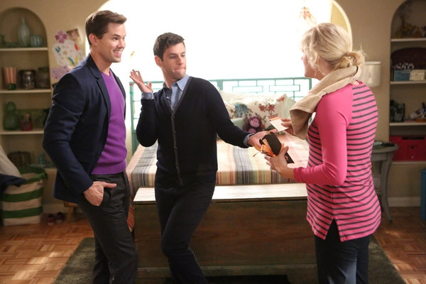 High Res Andrew Rannells, Justin Bartha, Georgia King