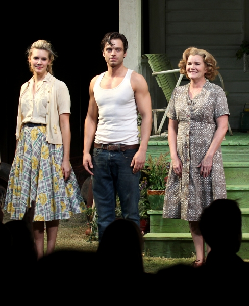 Maggie Grace, Sebastian Stan, Mare Winningham, Ellen Burstyn, Elizabeth Marvel at Inside PICNIC's Opening Night Curtain Call!
