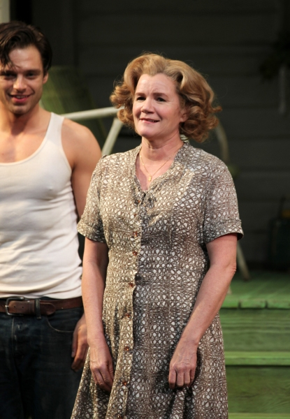 Sebastian Stan & Mare Winningham at Inside PICNIC's Opening Night Curtain Call!