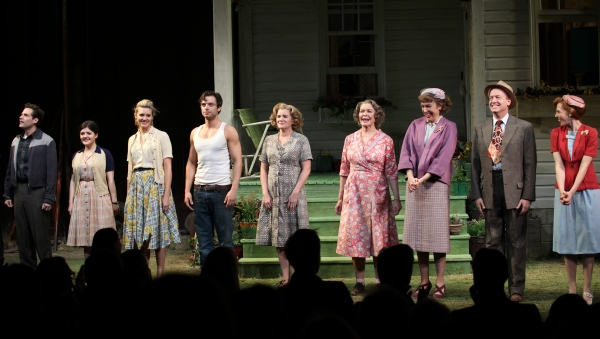 Ben Rappaport, Madeleine Martin, Maggie Grace, Sebastian Stan, Mare Winningham, Ellen Burstyn, Elizabeth Marvel, Reed Birney & Maddie Corman at Inside PICNIC's Opening Night Curtain Call!