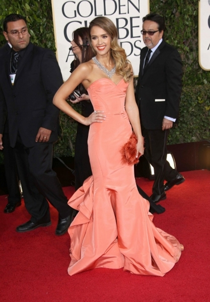 Jessica Alba (Wearing Oscar de la Renta)
