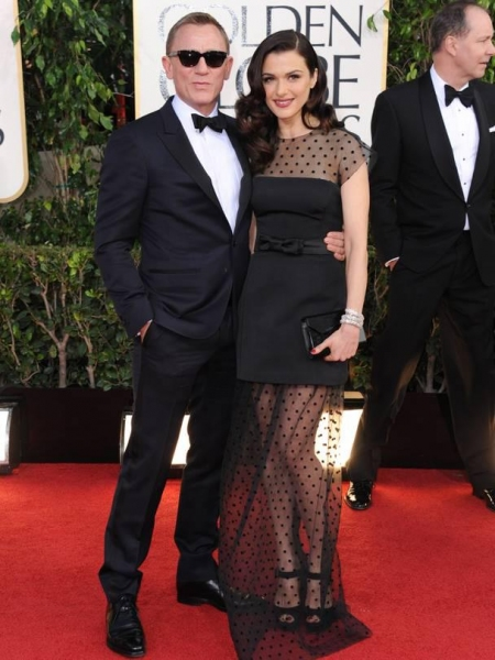 Daniel Craig, Rachel Weisz at More Stars at the Golden Globe Red Carpet