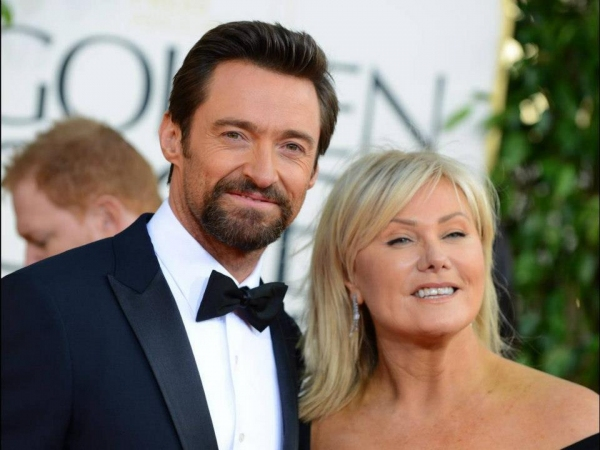 Hugh Jackman, Deborah-Lee Furness at More Stars at the Golden Globe Red Carpet