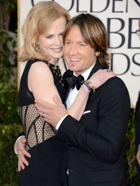 Nicole Kidman, Keith Urban at More Stars at the Golden Globe Red Carpet