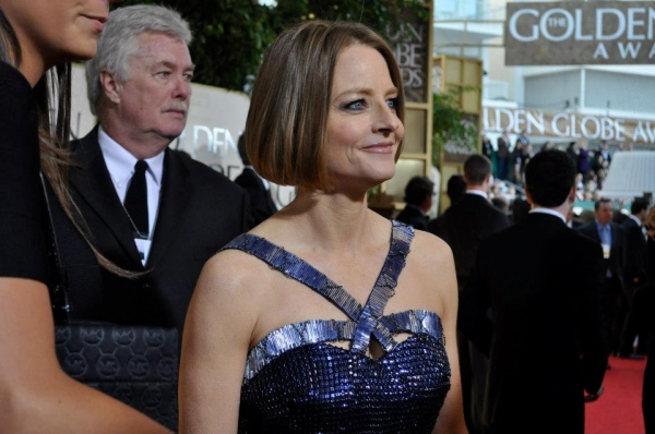 Jodie Foster at More Stars at the Golden Globe Red Carpet