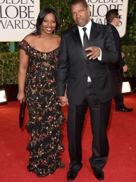 Denzel Washington and daughter at More Stars at the Golden Globe Red Carpet