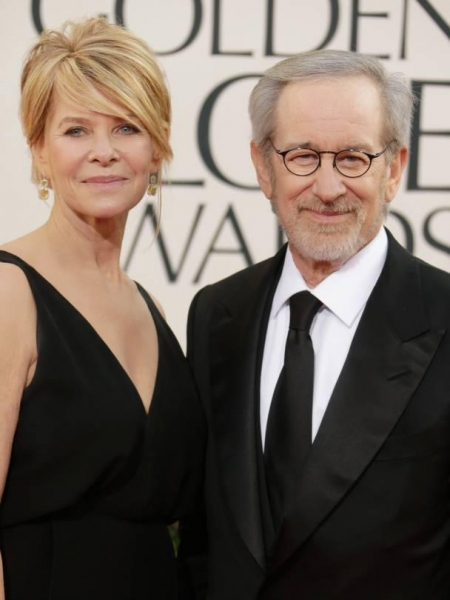 Steven Spielberg at More Stars at the Golden Globe Red Carpet