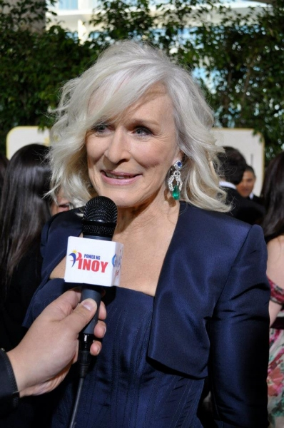 Glenn Close at More Stars at the Golden Globe Red Carpet