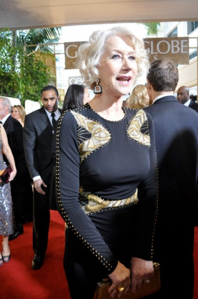 Helen Mirren at More Stars at the Golden Globe Red Carpet